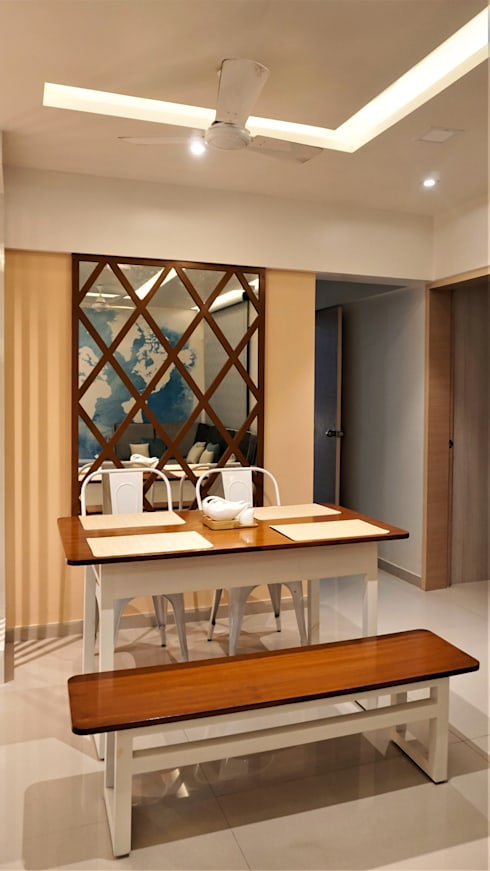 Travellers' Escape : modern Dining room by DESIGN EVOLUTION LAB