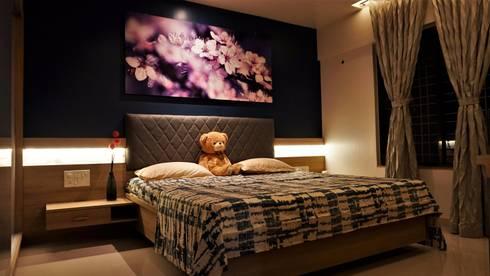 Travellers' Escape : modern Bedroom by DESIGN EVOLUTION LAB