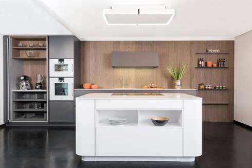 rational tio graphit grau und wei mit nischenwand eiche sepia von lang k chen accessoires. Black Bedroom Furniture Sets. Home Design Ideas