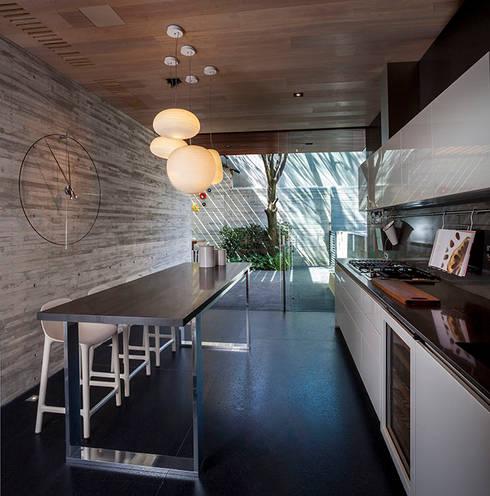 Projekty,  Kuchnia zaprojektowane przez Eduardo Gutiérrez Taller de Arquitectura