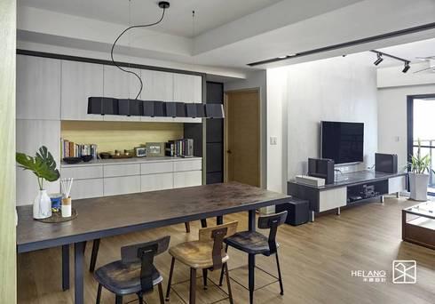 餐桌:  餐廳 by 禾廊室內設計