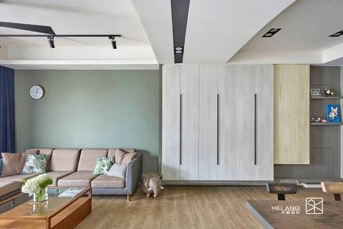 玄關鞋櫃:  玄關、走廊與階梯 by 禾廊室內設計