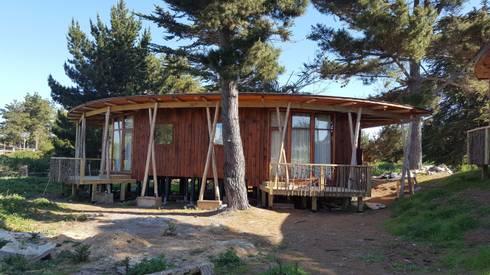 Kimche Lodge: Cabañas de estilo  por Kimche Arquitectos