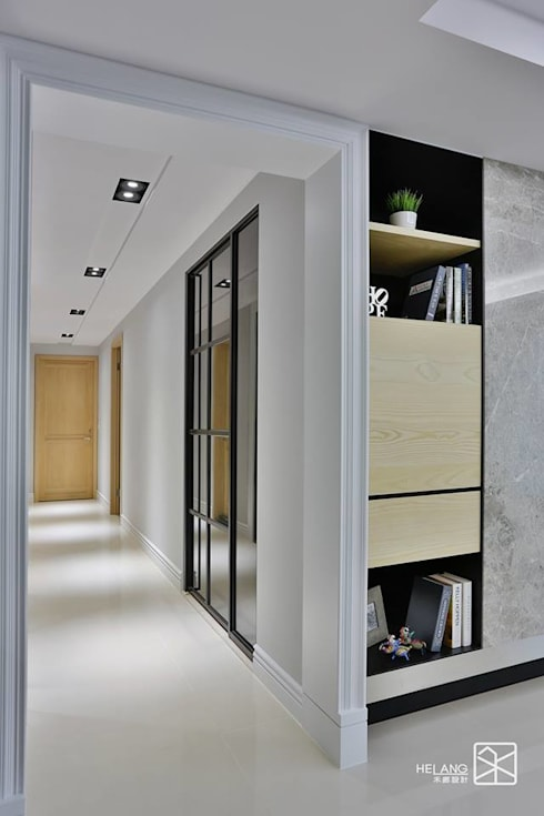 走道:  走廊 & 玄關 by 禾廊室內設計