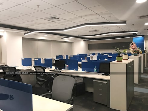 First Floor - Workstations:   by Envision Design Studio