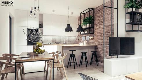 Kuchnia i jadalnia: styl , w kategorii  zaprojektowany przez MEEKO Architekci