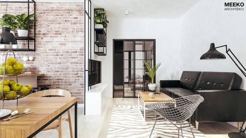 Salon: styl , w kategorii  zaprojektowany przez MEEKO Architekci