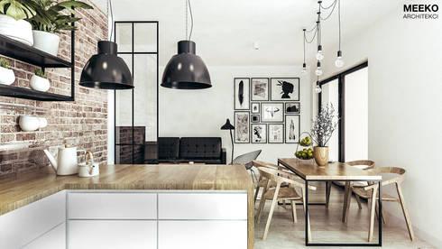 Kuchnia, jadalnia i salon: styl , w kategorii  zaprojektowany przez MEEKO Architekci