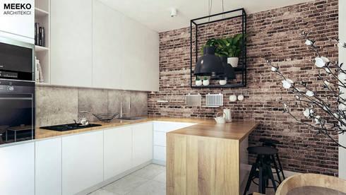 Kuchnia z wyspą: styl , w kategorii  zaprojektowany przez MEEKO Architekci