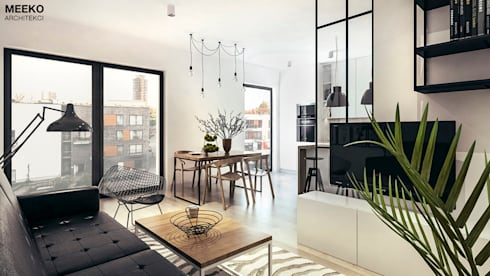 Salon i jadalnia: styl , w kategorii  zaprojektowany przez MEEKO Architekci