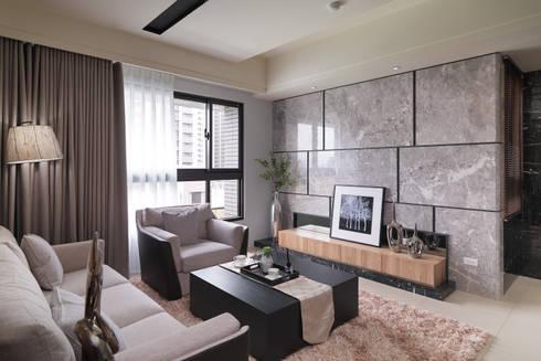 直線-穩.和:  客廳 by 珍品空間設計 | JP SPACE  DESIGN STUDIO