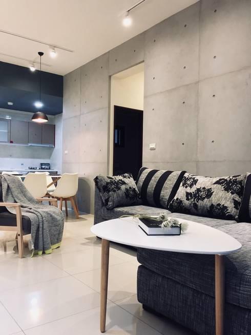北歐風格宅:  客廳 by 台灣柏林室內設計工作室