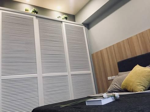 北歐風格宅:  臥室 by 台灣柏林室內設計工作室