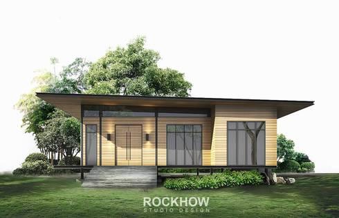 งานบ้านพักตากอากาศ 2ห้องนอน 2ห้องน้ำ 1 ห้องโถงใหญ่:   by Rockhow Studio Design