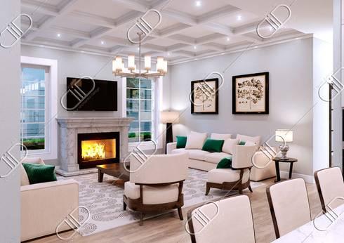 NObelton: modern Living room by Design Studio AiD