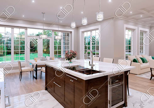 NObelton: modern Kitchen by Design Studio AiD