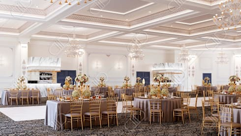 Royal Venetian Banquet Hall: classic Conservatory by Design Studio AiD