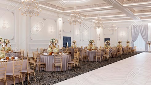 Royal Venetian Banquet Hall: classic Dining room by Design Studio AiD
