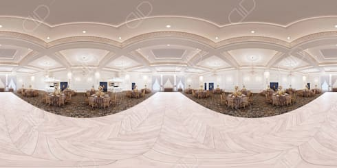 Royal Venetian Banquet Hall: classic Media room by Design Studio AiD