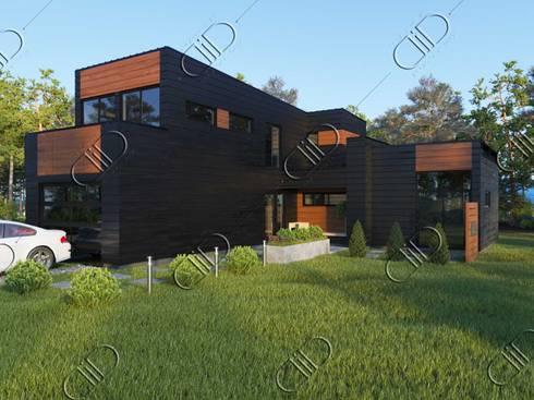 WoodLine: modern Houses by Design Studio AiD