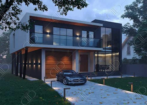 Architectural Design and Visualization: modern Houses by Design Studio AiD