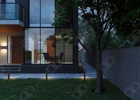 Architectural Design and Visualization: minimalistic Houses by Design Studio AiD
