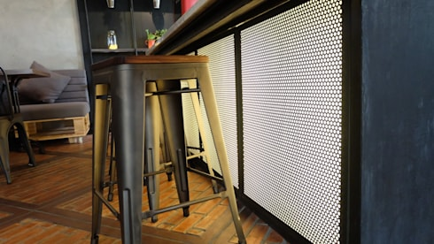 Bar area:  Interior landscaping by Chromatic Interior