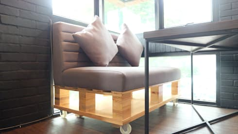 Seating:  Interior landscaping by Chromatic Interior