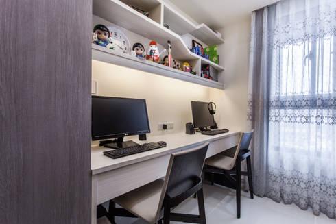 晶亮27坪空間放大術:  嬰兒/兒童房 by 好室佳室內設計