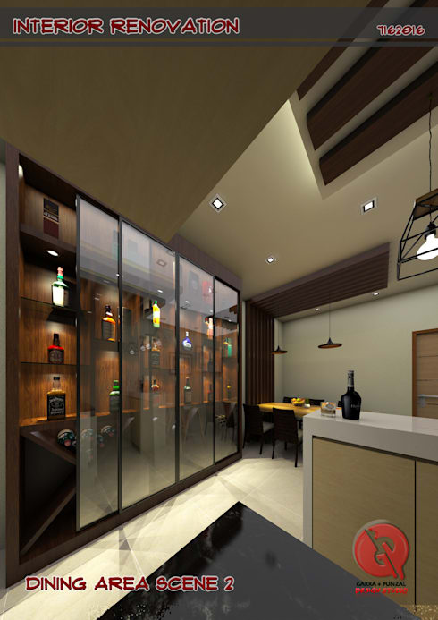 1-Bedroom Interior Design: modern Dining room by Garra + Punzal Architects