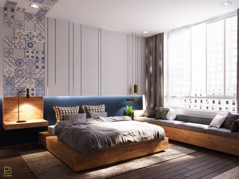 NHÀ PHỐ PLEIKU:  Phòng ngủ by P.A.U Design