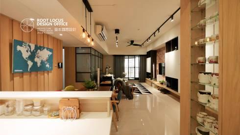 台中 陳公館:  餐廳 by 築本國際設計有限公司