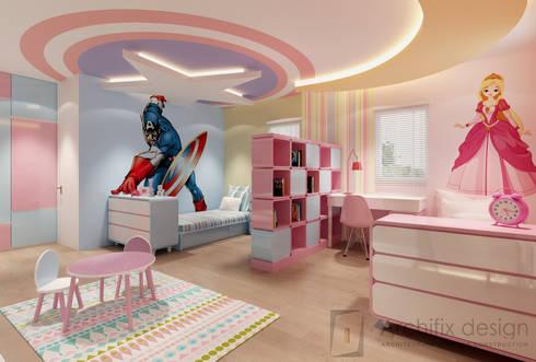 Cải tạo căn hộ Duplex -Lam Sơn – Tân Bình:  Phòng ngủ của trẻ em by Công Ty TNHH Archifix Design