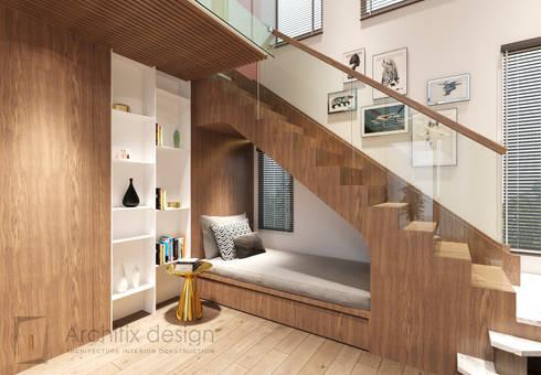 Cải tạo căn hộ Duplex -Lam Sơn – Tân Bình:  Cầu thang by Công Ty TNHH Archifix Design