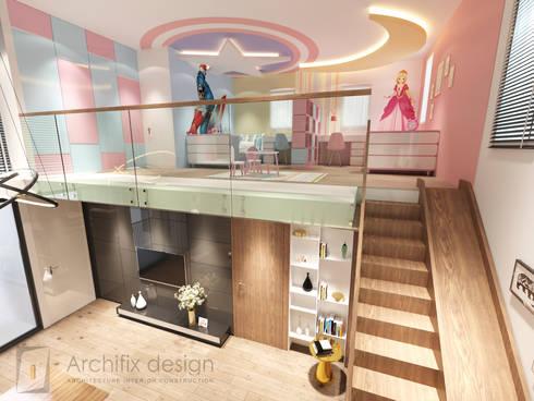 Cải tạo căn hộ Duplex -Lam Sơn – Tân Bình:  Nhà gia đình by Công Ty TNHH Archifix Design