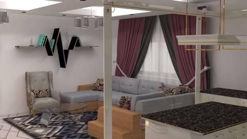 جمال :  غرفة المعيشة تنفيذ Batool