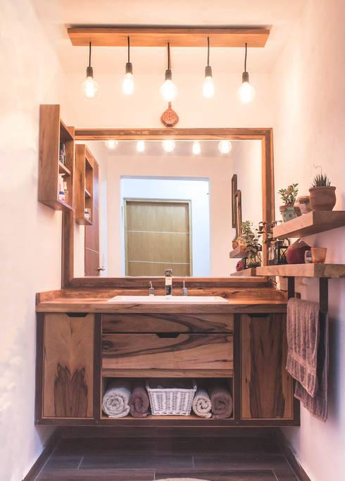 Baño - vista total: Baños de estilo  por Mon Estudio