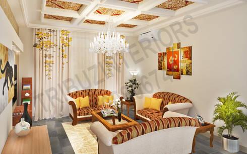 Saket: modern Living room by Tribuz Interiors Pvt. Ltd.