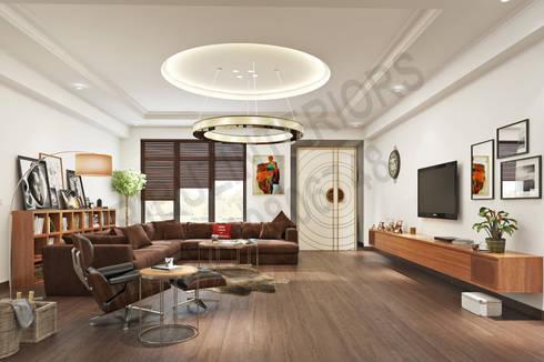 South City : modern Living room by Tribuz Interiors Pvt. Ltd.