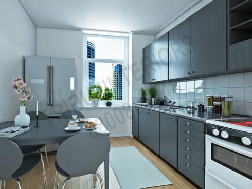 South City : modern Kitchen by Tribuz Interiors Pvt. Ltd.