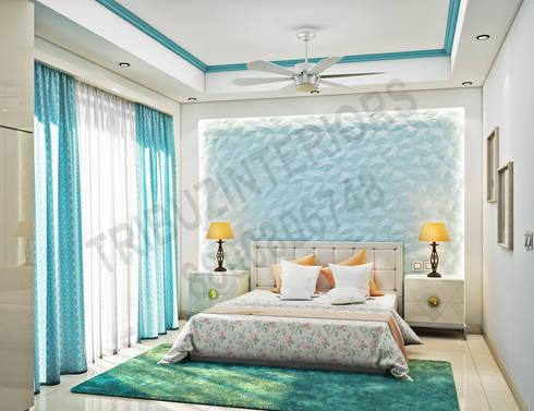 South City : modern Bedroom by Tribuz Interiors Pvt. Ltd.