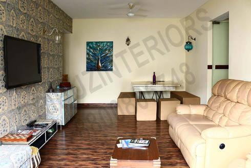 Heritage : modern Living room by Tribuz Interiors Pvt. Ltd.