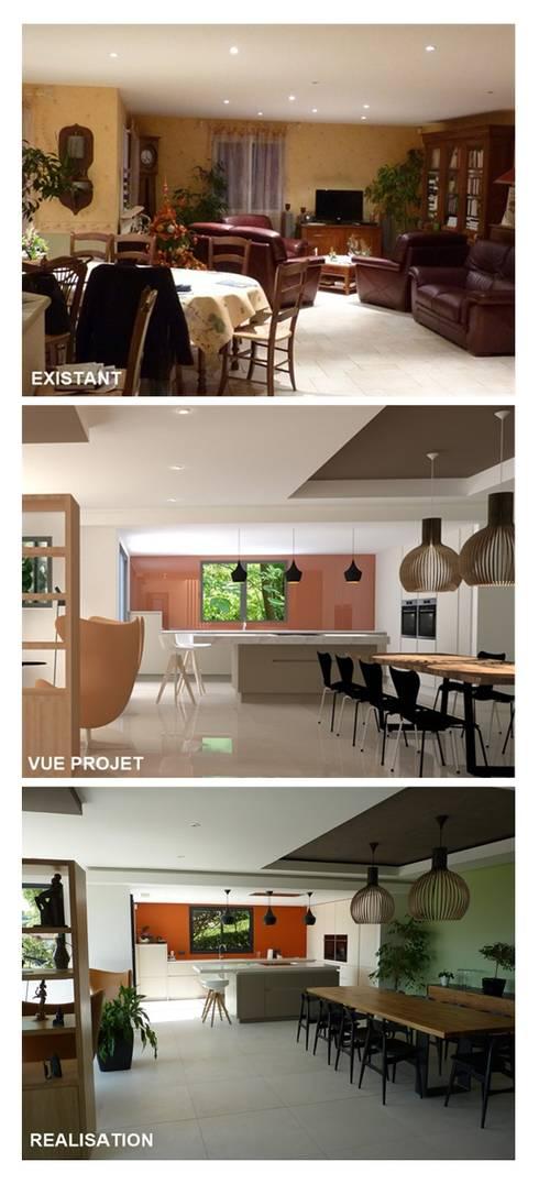 Rénovation maison à Cluny: Salle à manger de style de style Moderne par BRUNO BINI