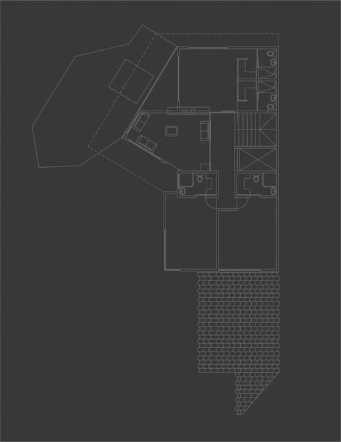 casa vega: Casas de estilo moderno por Adrede Diseño