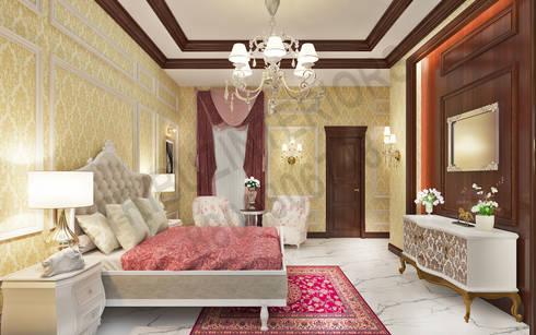 Central Park 2: classic Bedroom by Tribuz Interiors Pvt. Ltd.