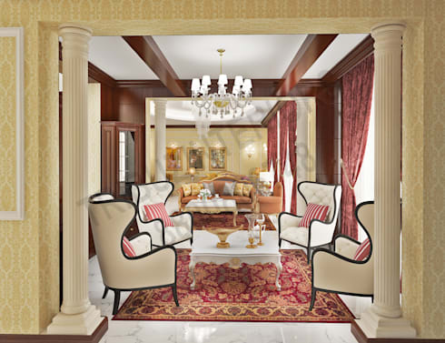 Central Park 2: classic Dining room by Tribuz Interiors Pvt. Ltd.