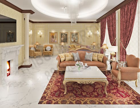 Central Park 2: classic Living room by Tribuz Interiors Pvt. Ltd.