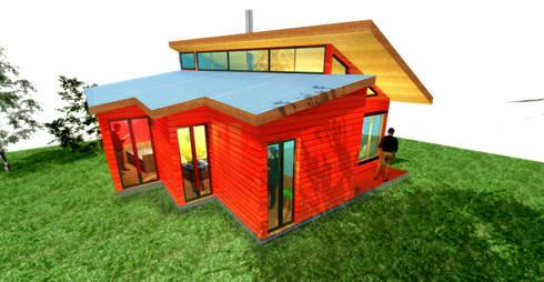 Vista principal: Casas de estilo ecléctico por artefacto arquitectura