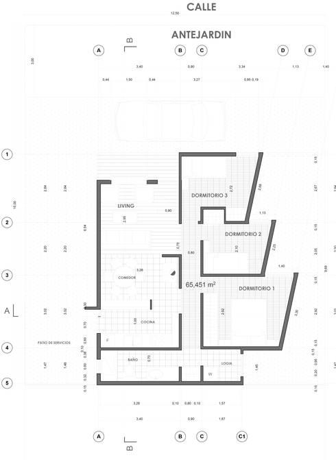 Planta de arquitectura:  de estilo  por artefacto arquitectura