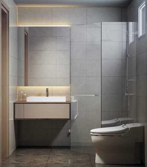 Căn hộ Masteri Thảo Điền:  Phòng tắm by Công Ty TNHH Trang Trí Nội Thất Centimet.
